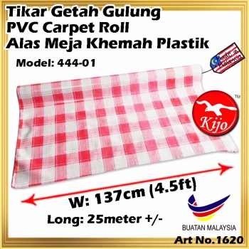 Tikar Getah Gulung / PVC Carpet Roll / Alas Meja Khemah Plastik 1620 444-01