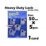 1972 Heavy Duty Lock 50mm X 5pcs With Master Key