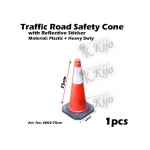 2002-75cm Traffic Road Safety Cone with Reflective Sticker