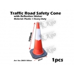 2003-100cm Traffic Road Safety Cone with Reflective Sticker