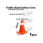 2005-45cm Traffic Road Safety Cone with Reflective Sticker