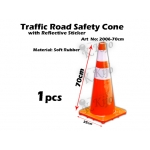 2006-70cm Traffic Road Safety Cone with Reflective Sticker