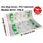 Alas Meja / PVC Plastic Table Cloth / Kain Plastik 8412-196-2
