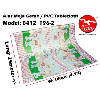 Alas Meja / PVC Plastic Table Cloth / Kain Plastik 8412-196-2