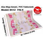 Alas Meja / PVC Plastic Table Cloth / Kain Plastik 8412-196-4