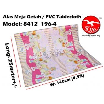 Alas Meja / PVC Plastic Table Cloth / Kain Plastik 8412-196-4