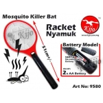 Mosquito Killer Bat Racket Nyamuk Battery 9580