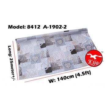 Alas Meja / PVC Plastic Table Cloth / Kain Plastik 8412-A-1902-2