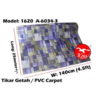 Tikar Getah Gulung / PVC Carpet Roll / Alas Meja Khemah Plastik 1620-A-6034-3