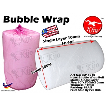 BW-4010 Bubble Wrap Roll - Single Layer