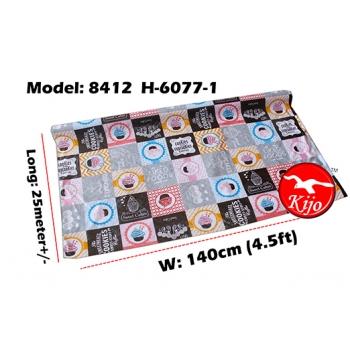 Alas Meja / PVC Plastic Table Cloth / Kain Plastik 8412-H-6077-1