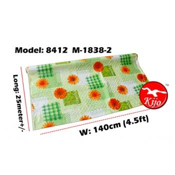 Alas Meja / PVC Plastic Table Cloth / Kain Plastik 8412-M-1838-2