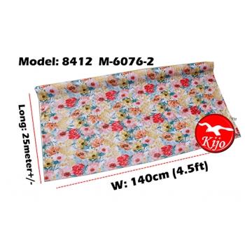 Alas Meja / PVC Plastic Table Cloth / Kain Plastik 8412-M-6076-2
