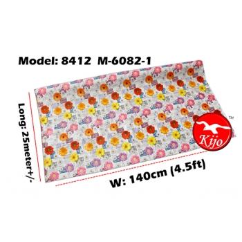 Alas Meja / PVC Plastic Table Cloth / Kain Plastik 8412-M-6082-1