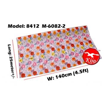 Alas Meja / PVC Plastic Table Cloth / Kain Plastik 8412-M-6082-2