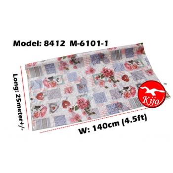 Alas Meja / PVC Plastic Table Cloth / Kain Plastik 8412-M-6101-1