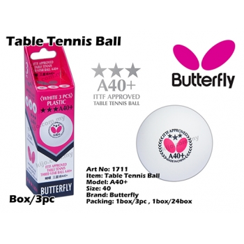 Butterfly A40+ Table Tennis Ball