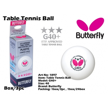 Butterfly G40+ Table Tennis Ball