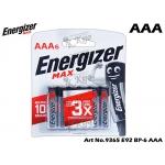 9365 Energizer Max E92 BP-6 AAA