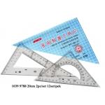 1039 20cm Triangle Ruler Set
