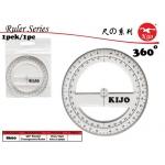 8660 360'round Transparent Ruler