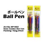 BP1802 KIJO Combo 3in1 Ball Pen Set