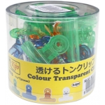8813 Kijo 31mm Colour Transparent Clips