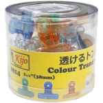 8814 Kijo 38mm Colour Transparent Clips
