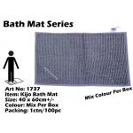 1737 Kijo Bath Mat Colour: Grey