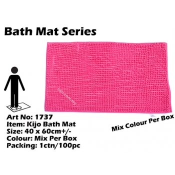 1737 Kijo Bath Mat Colour: Pink