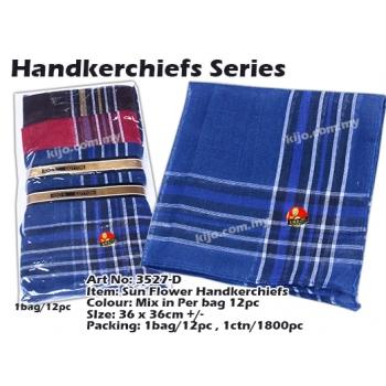 3527-D Sun Flower Handkerchiefs