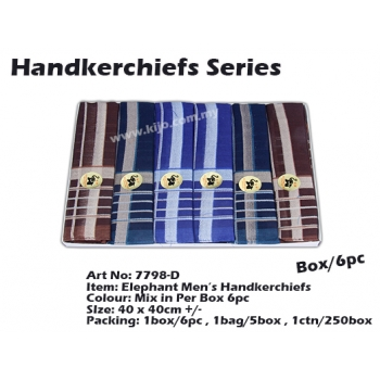 7798-D1 Elephant Men Handkerchiefs