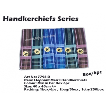 7798-D2 Elephant Men Handkerchiefs