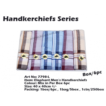 7798-L1 Elephant Men Handkerchiefs