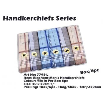 7798-L2 Elephant Men Handkerchiefs