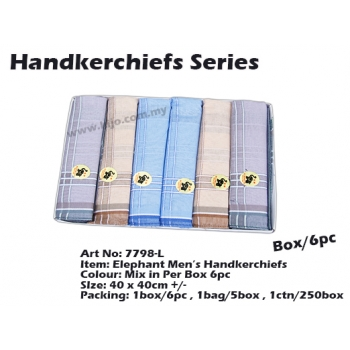 7798-L3 Elephant Men Handkerchiefs