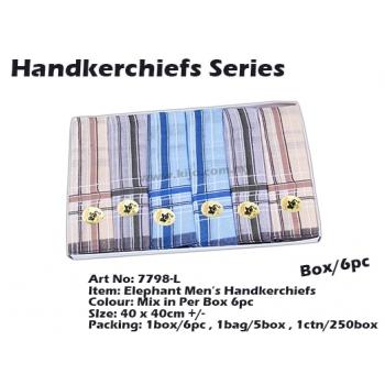 7798-L4 Elephant Men Handkerchiefs
