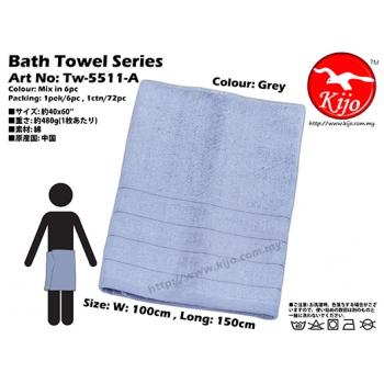 Tw-5511-A KIJO Bath Towel - Grey