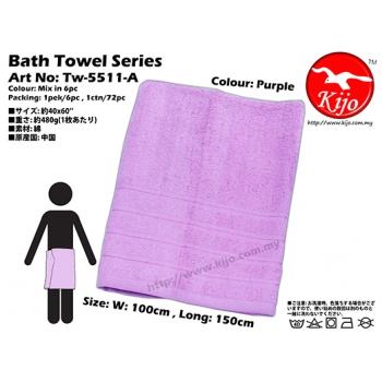 Tw-5511-A KIJO Bath Towel - Purple