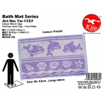 Tw-1727 Bath Mat Fish - Purple