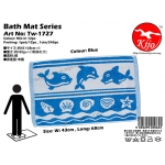Tw-1727 Bath Mat Fish - Blue