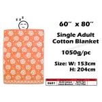 8601 KIJO Single Adult Cotton Blanket - Orange