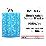 8601A KIJO Single Adult Cotton Blanket - Blue