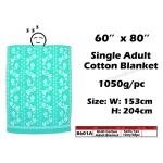 8601A KIJO Single Adult Cotton Blanket - Green