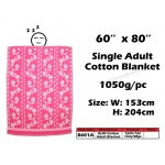 8601A KIJO Single Adult Cotton Blanket - Pink
