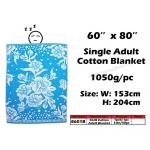8601B KIJO Single Adult Cotton Blanket - Blue