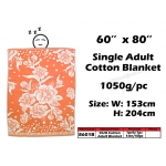 8601B KIJO Single Adult Cotton Blanket - Orange