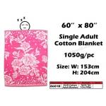 8601B KIJO Single Adult Cotton Blanket - Pink