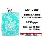 8601B KIJO Single Adult Cotton Blanket - Green