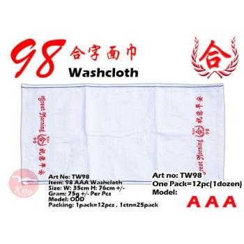TW98 KIJO 98 AAA Washcloth